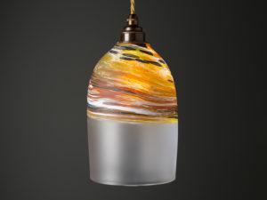 Polperro Bell Pendant Amber