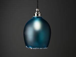 Polruan Round Pendant Steel-Blue