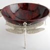 Dragonfly Bowls Red Silver