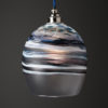 Polperro Round Pendant - Black and White