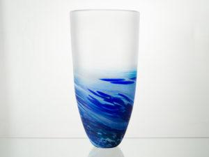 Polperro Tall Glass Vase Cobalt