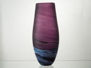 Porthleven Tear Glass Vase - Aubergine