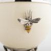 Ostrich Egg - Bees - Cream/Silver