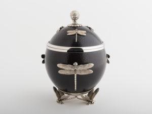 Ostrich Egg - Dragonfly - Espresso/Silver