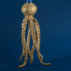 Tall Octopus Candle Holder - Brass