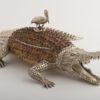 Crocodile with Pelican