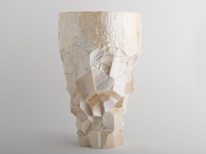 Stratus Planter - Pearl Oyster