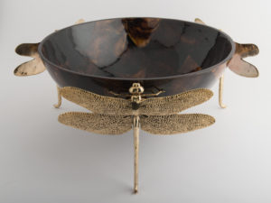 Dragonfly Bowls Brown Gold