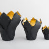 Tulipa Candle Holder - Black Gold
