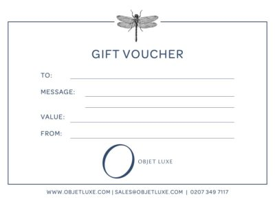 Objet Luxe Gift Voucher unusual luxury gifts 2021